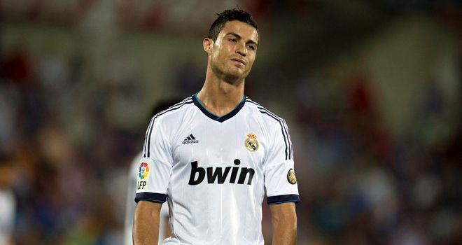 Cristiano Ronaldo cuts a dejected figure against Getafe