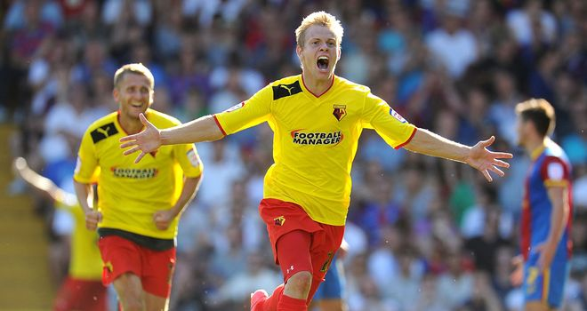Matej Vydra: Bagged a brace for Watford