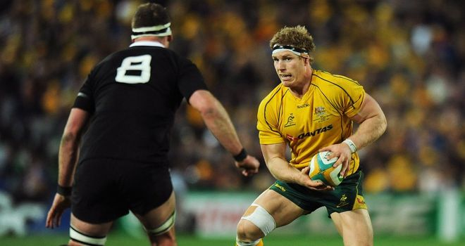 David Pocock: led Wallabies to a 27-19 defeat against the All Blacks in Sydney