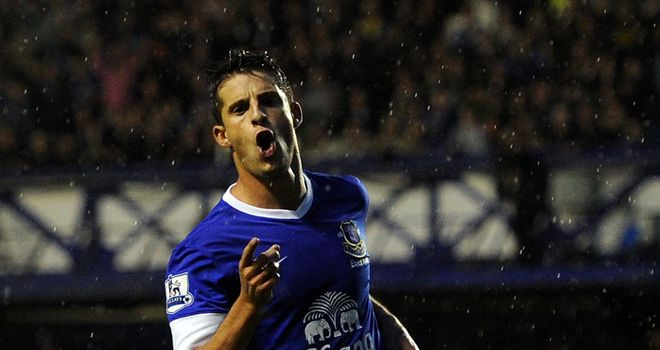 Kevin Mirallas: Netted a double on his full Everton debut