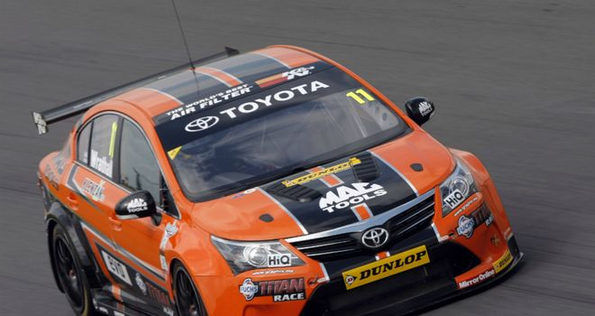 Frank Wrathall: First pole position (Credit: btcc.net)