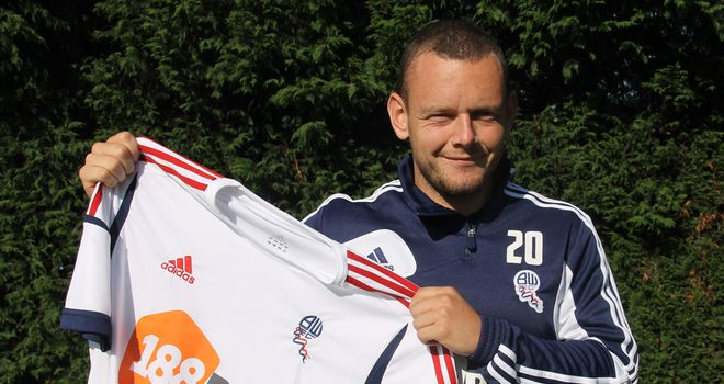Jay Spearing: The midfielder has joined Bolton on a season-long loan