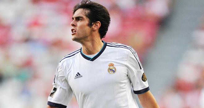 Kaka: Arrived at the Bernabeu in a £56million deal in the June of 2009