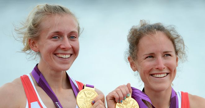 Kat Copeland (left): Won the Olympic gold with Sophie Hosking this summer