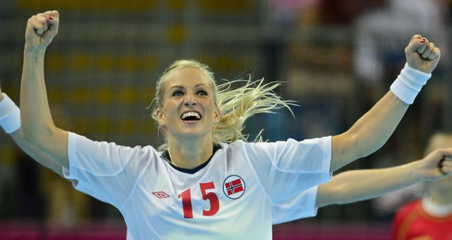 Linn Jorum Sulland: Netted 10 goals to inspire Norway to victory in a tight affair