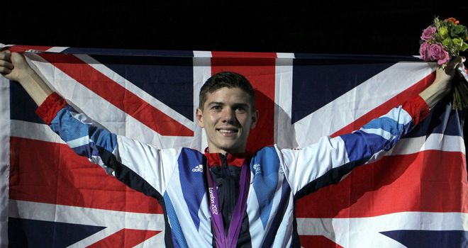 Luke Campbell celebrates another gold medal for Team GB