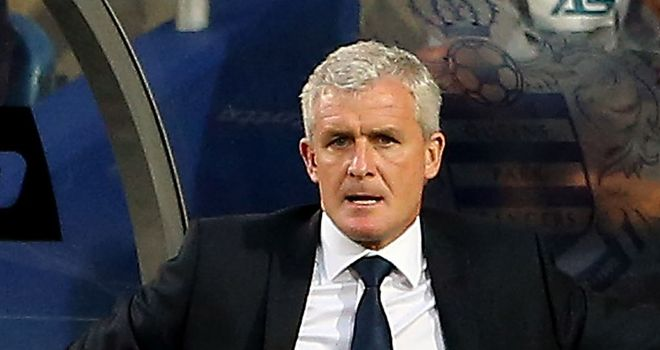 Mark Hughes: Encouraged by his side's efforts at the Etihad Stadium