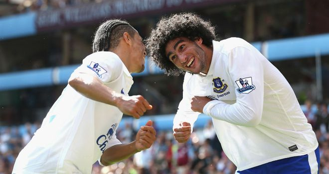 Marouane Fellaini: Is full of praise for his manager David Moyes and the work he has done at Everton