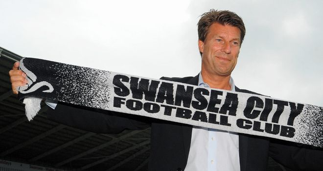 Michael Laudrup: Aiming to continue Swansea's recent rise after replacing Brendan Rodgers