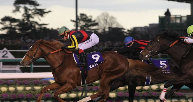 Orfevre winning the Arima Kinen (courtesy of the Japanese Racing Association)