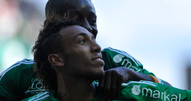 Pierre-Emerick Aubameyang: Netted twice for St Etienne