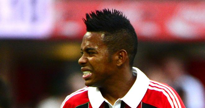 Robinho: AC Milan forward is reportedly struggling with a thigh injury