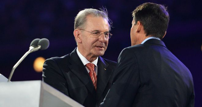 Jacques Rogge: Thanked London for Olympic Games