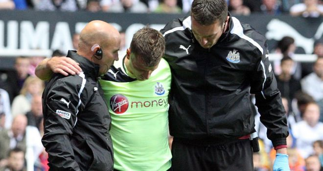 Ryan Taylor (centre): Newcastle defender expected to miss all of next season