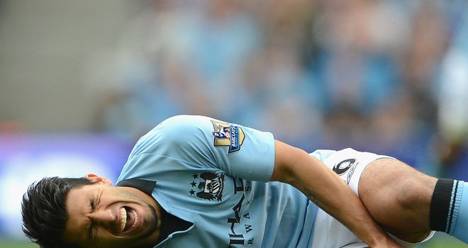 Sergio Aguero: Suffered a knee injury against Southampton