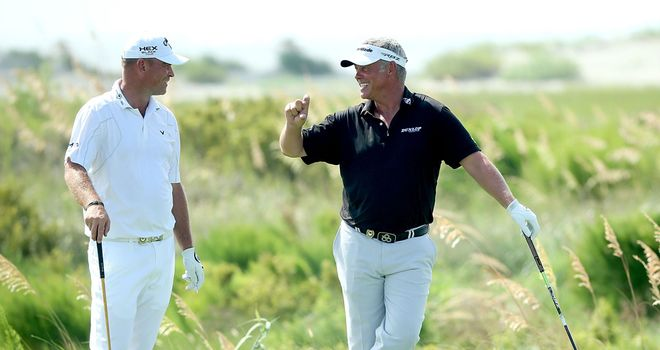 Darren Clarke (R) and Thomas Bjorn: Will be two of Europe's vice-captains