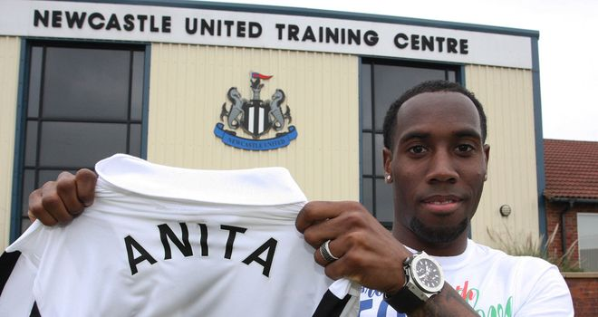 Vurnon Anita: Happy to be at Newcastle after arriving from Ajax