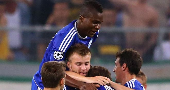 Dynamo Kiev celebrate against Borussia Monchengladbach