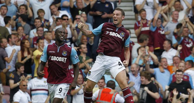 Kevin Nolan: Bagged winning goal at home to Aston Villa