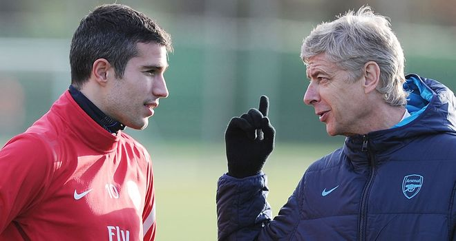Robin van Persie & Arsene Wenger: Set to part ways as the former heads for Manchester United