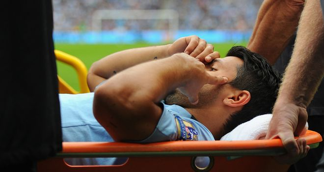 Sergio Aguero: The striker will miss matches against Liverpool and Queens Park Rangers