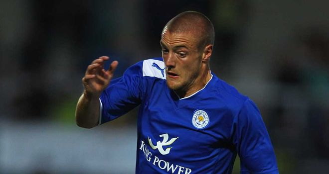 Vardy: Off the mark for Leicester