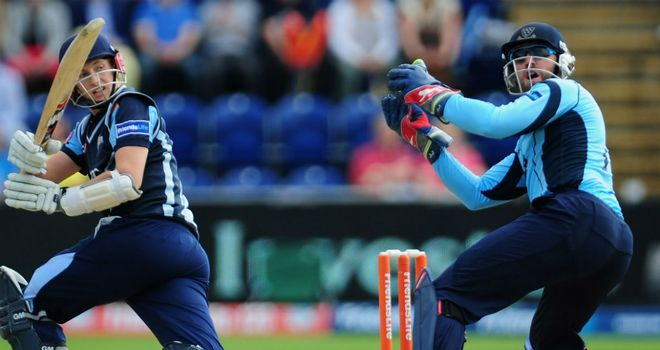 Joe Root: In action for Yorkshire during the Friends Life t20 semi-final against Sussex