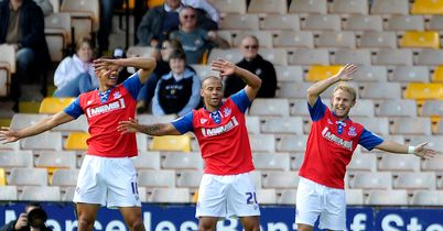 Deon Burton (centre): Scored late winner