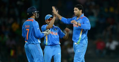 Yuvraj Singh: ran through Afghanistan's top order with his left-arm spin