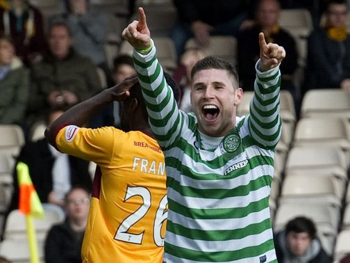 Hooper celebrates against Motherwell