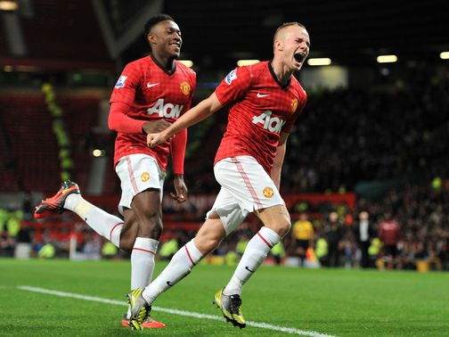 Cleverley: Off the mark for United