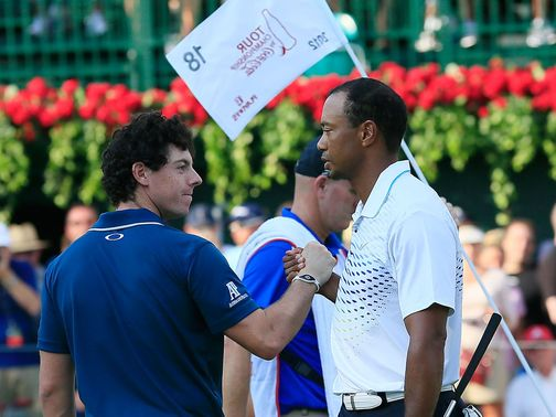 Rory McIlroy and Tiger Woods will face off on Wednesday