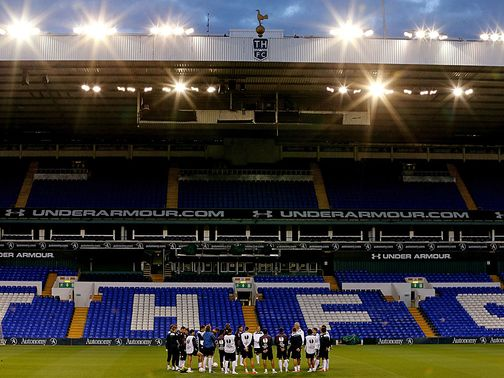White Hart Lane: Snow continues to fall in north London