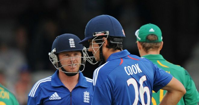Ian Bell (left) and Alastair Cook in one-day action for England