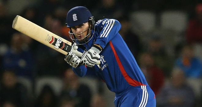 Alex Hales: helped himself to a half-century before England's innings fell away