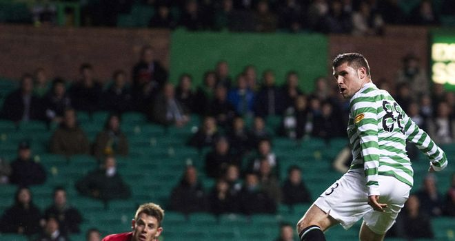 Gary Hooper: Scores his first goal against Raith Rovers