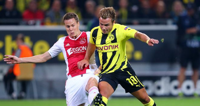 Mario Gotze was a key figure for Dortmund, winning a second-half penalty