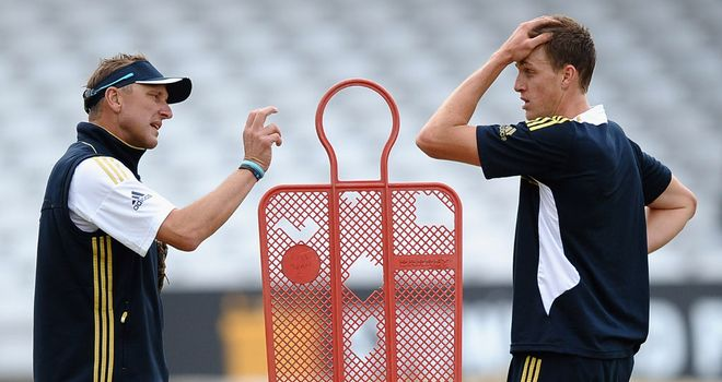 Allan Donald with South African paceman Morne Morkel