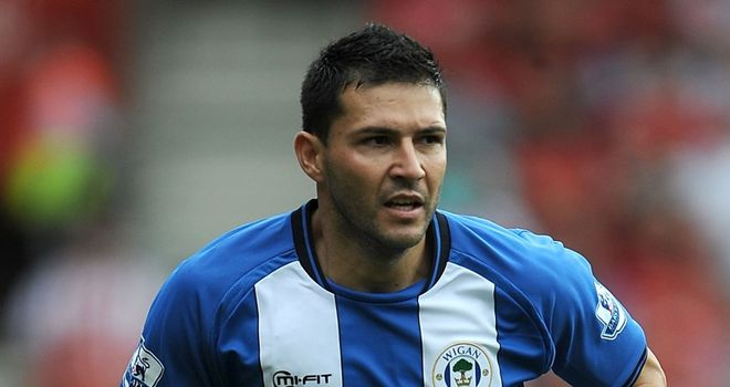Antolin Alcaraz: Becomes the second signing from Wigan for Everton this summer