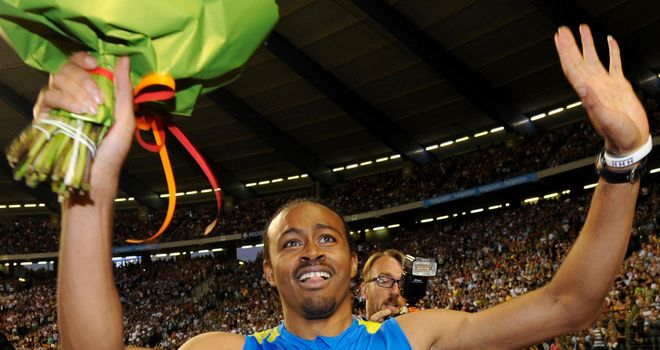 Aries Merritt: Ran 12.80 seconds in the 110 metres hurdles to post a new world record