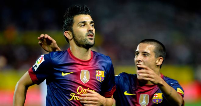 David Villa: Praised by Barca boss