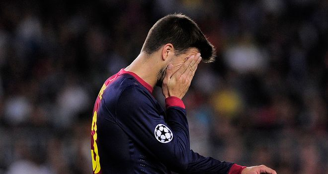 Gerard Pique: Forced off with an injury in the early stages of Barcelona's win over Spartak Moscow