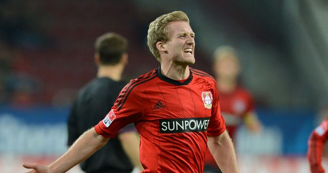 Andre Schurrle added Leverkusen's third