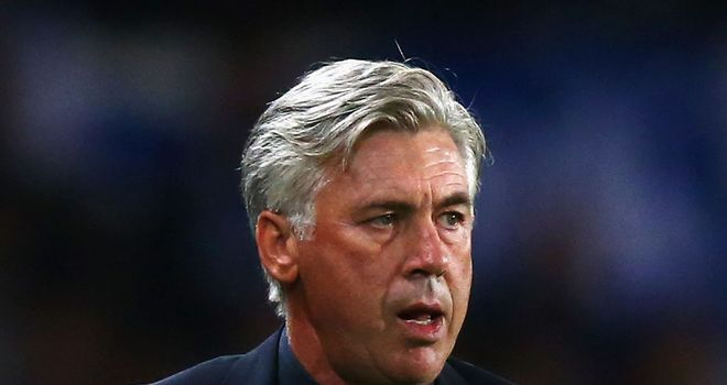 Carlo Ancelotti: His side will look to close the gap on Lyon this weekend