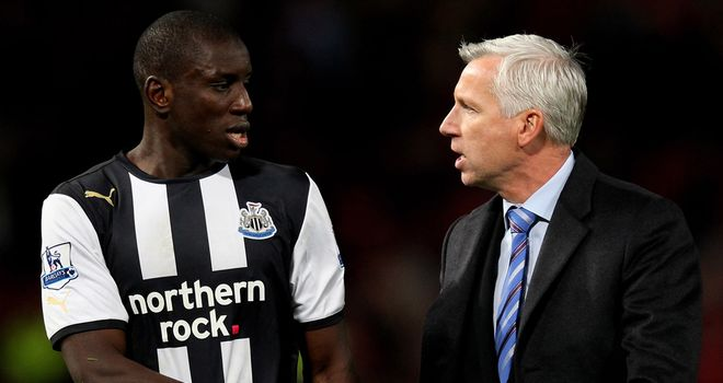 Demba Ba: The striker was said to be unhappy after being left on the bench by Alan Pardew