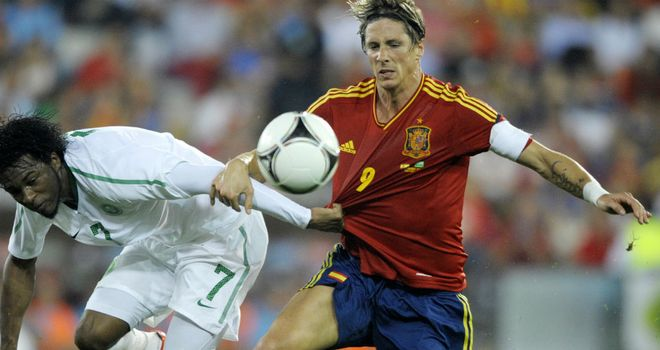 Fernando Torres: Captained Spain on his 100th appearance in the absence of Iker Casillas