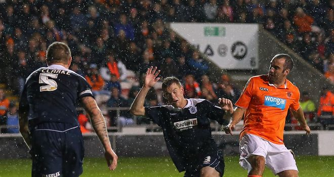 Taylor-Fletcher: Flicks home Blackpool's goal