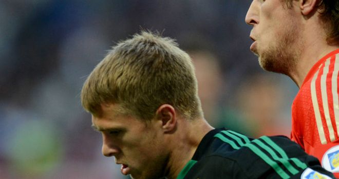 Jamie Ward: Nervous when making his first start for Northern Ireland in World Cup qualifier against Russia