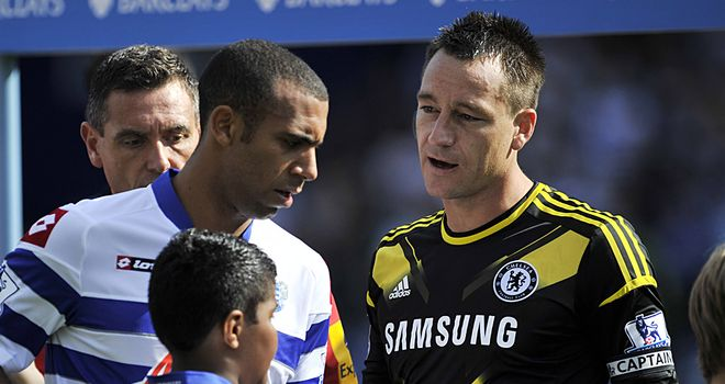 Anton Ferdinand and John Terry: Duo did not shake hands at recent meeting at Loftus Road following racism row