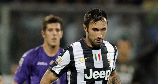 Mirko Vucinic in action for Juventus